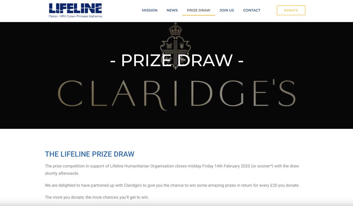Lifeline prize draw